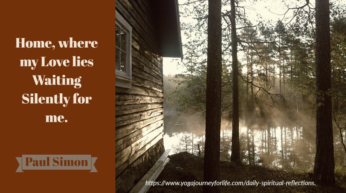 daily spiritual reflection about coming home