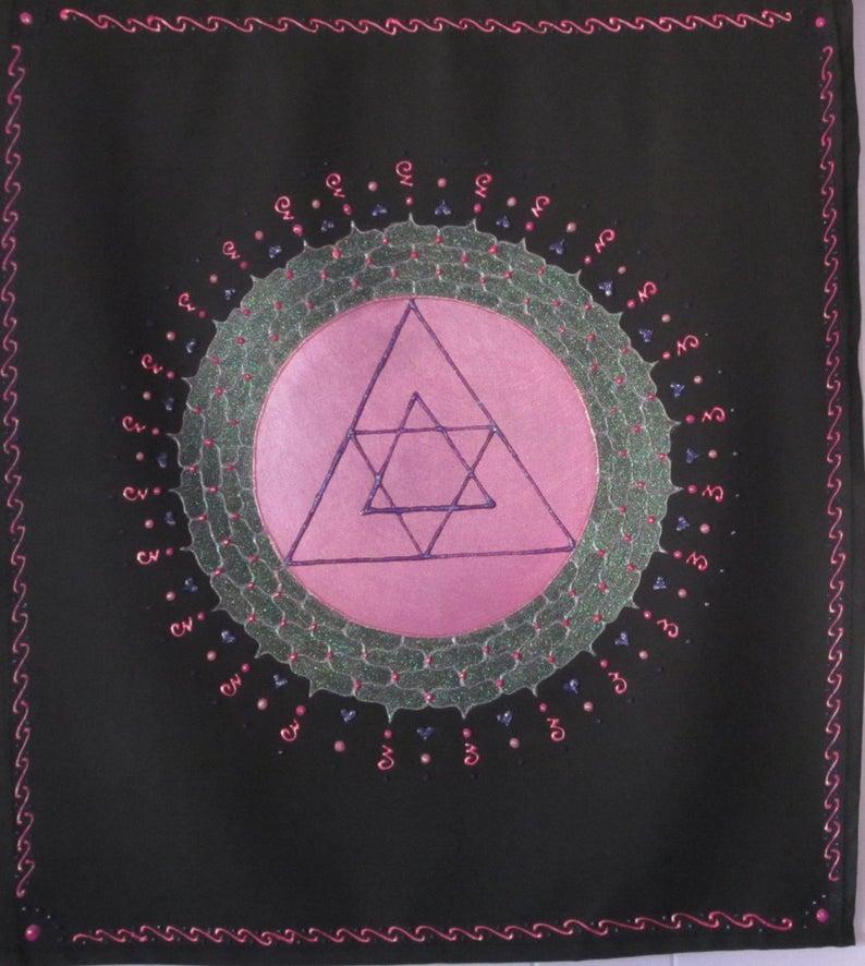 heart chakra symbol wall hanging