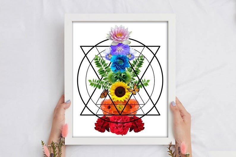 heart chakra symbol print