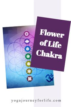 flower of life chakra pin