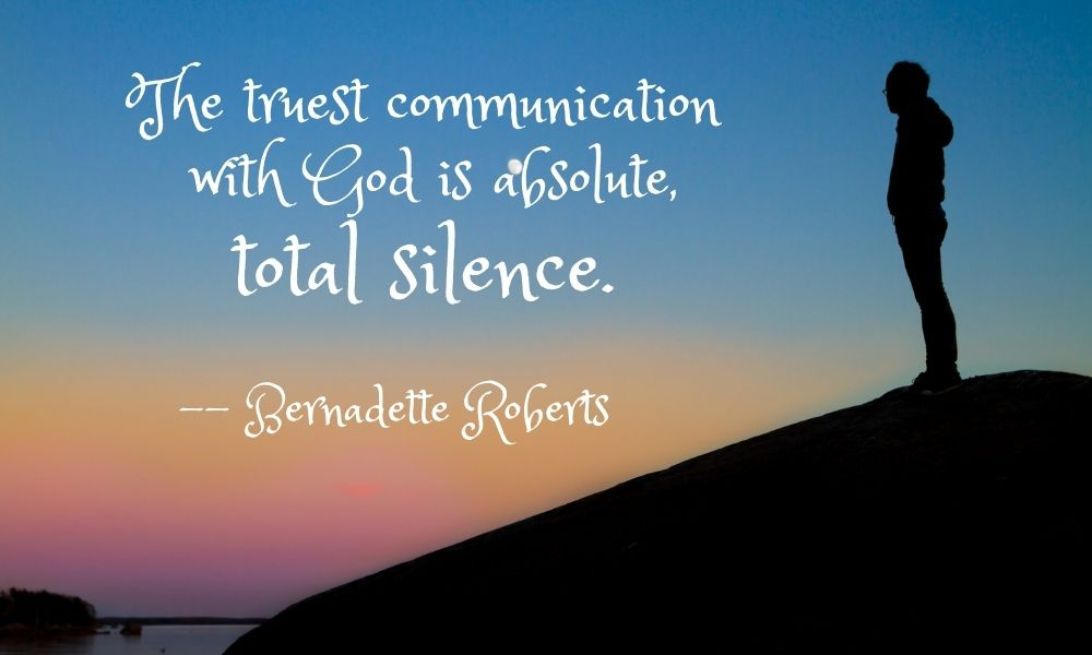 silence as communion with god